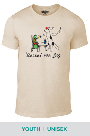 Vincent van Dog Cotton T-shirt in Unisex and Youth