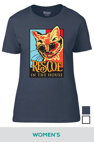 Rescue in the House (Cat) Cotton T-shirt for Women