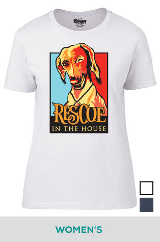 Rescue in the House (Dog) Cotton T-shirt in Women's