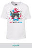 Red, White & Mew (Cat) Cotton T-shirt