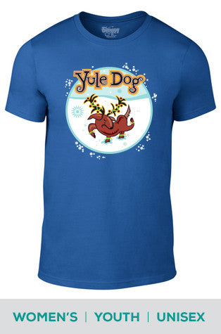 Yule Dog Cotton T-shirt