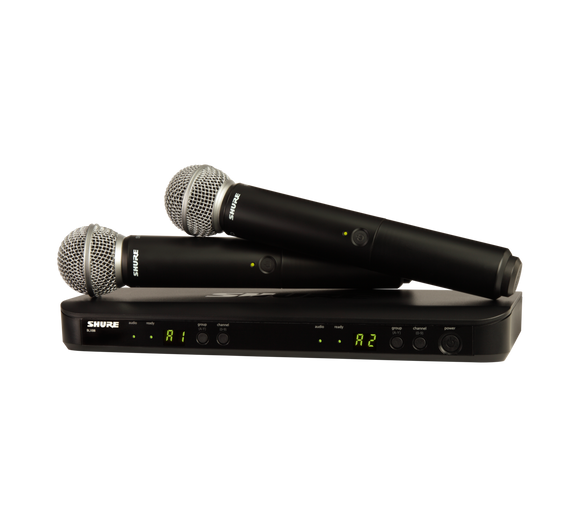 SHURE BLX288/SM58 DUAL WIRELESS HANDHELD MIC SYSTEM