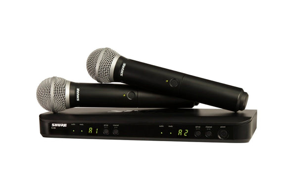 SHURE BLX288/PG58 DUAL WIRELESS HANDHELD MIC SYSTEM