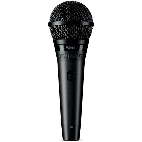 SHURE PGA58 CARDIOID DYNAMIC VOCAL MICROPHONE W/ XLR CABLE