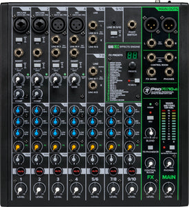 MACKIE PROFX10V3 10 CHANNEL MIXER W/ EFFECTS AND USB