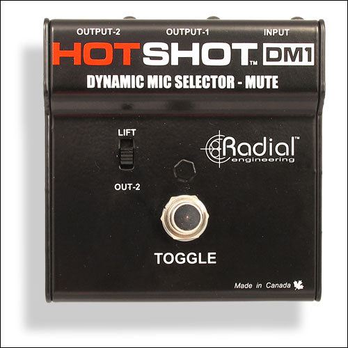 RADIAL HOTSHOT DM-1 STAGE MIC TOGGLE