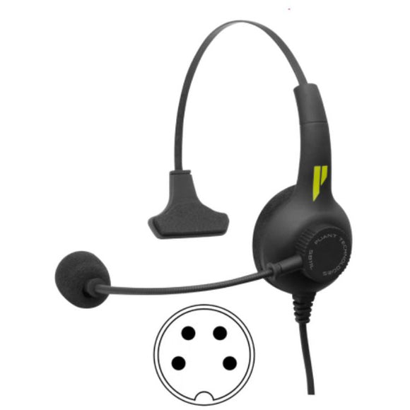 Pliant Technologies PHS-SB11L-5M SmartBoom LITE Single Ear Headset, 5-pin XLR Male