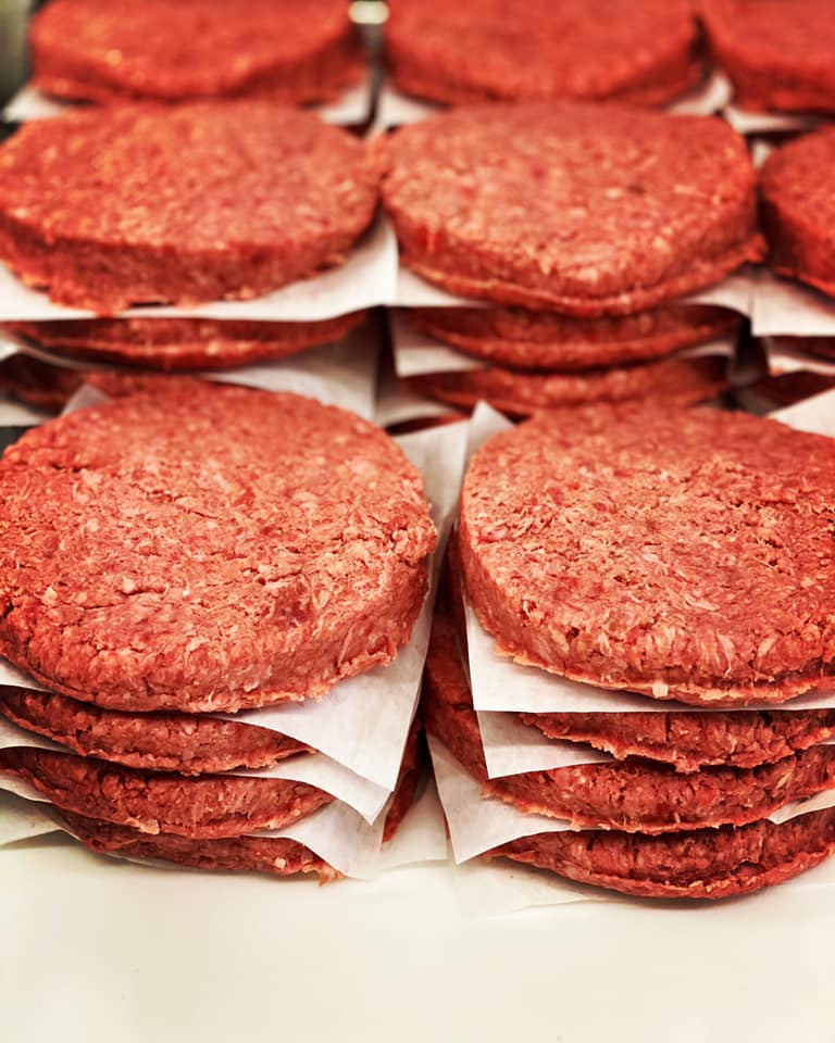 GROUND BEEF PATTIES 8OZ - 2LB PACK