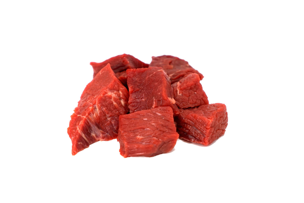 BEEF CUBES - 1LB PACK
