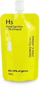60 x 60mL Hand Sanitiser pouch