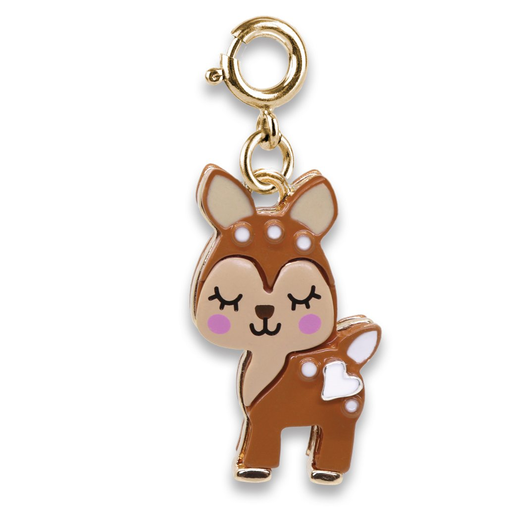 Gold Fawn Charm