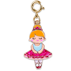 Gold Swivel Ballerina Charm (Blue)