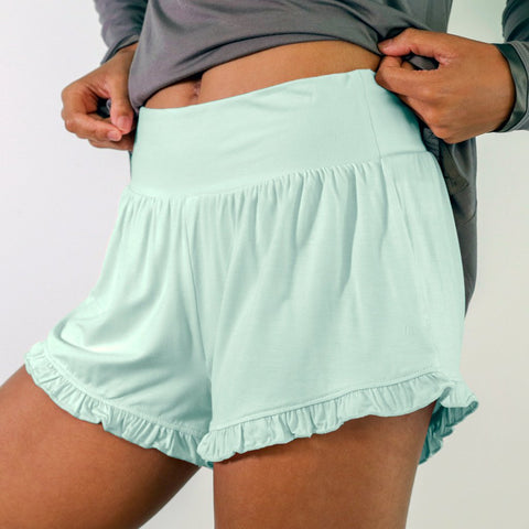 Faceplant Dreams Bamboo Ruffled Shorts