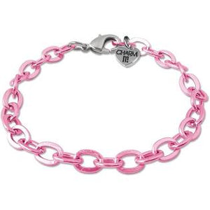 Pink Chain Link Bracelet-Adjustable