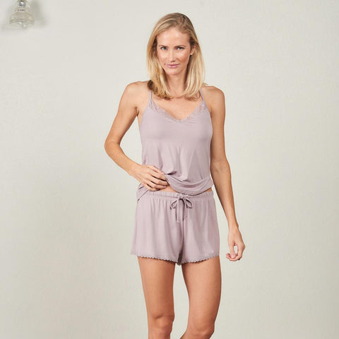 Faceplant Dreams Cami Short Set- Lavender Dusk
