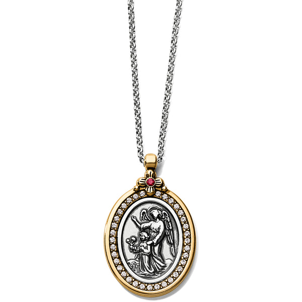 Guardian Angel Two-Tone Pendant Necklace