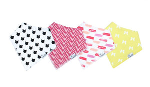 Baby Bandana Bibs Set of 4 - Coco