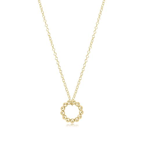 "enewton 16"" necklace gold - halo gold charm"