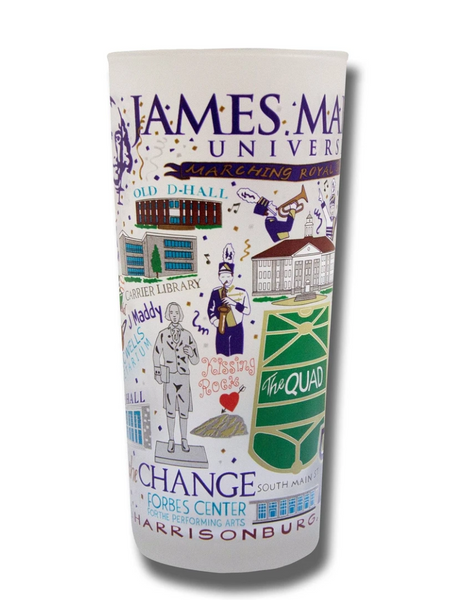 James Madison University ( JMU ) Collegiate Drinking Glass