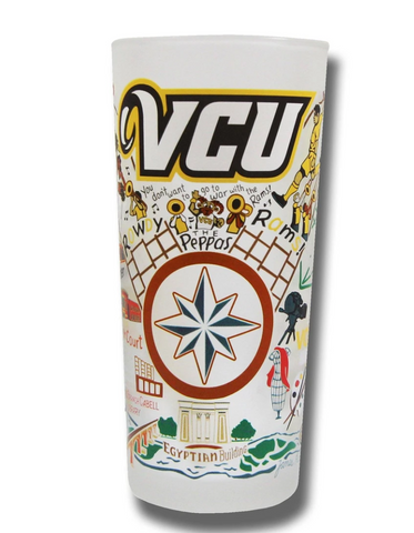 Virginia Commonwealth University (VCU) Collegiate Drinking Glass