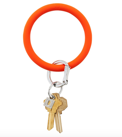 Big O Silicone Key Ring - Orange Crush