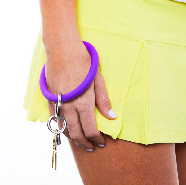 Big O Silicone Key Ring - Deep Purple