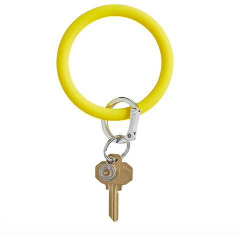 Big O Silicone Key Ring - Yes Yellow