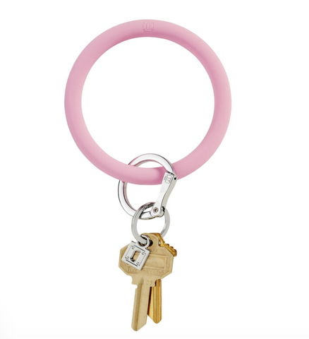 Big O Silicone Key Ring - Cotton Candy