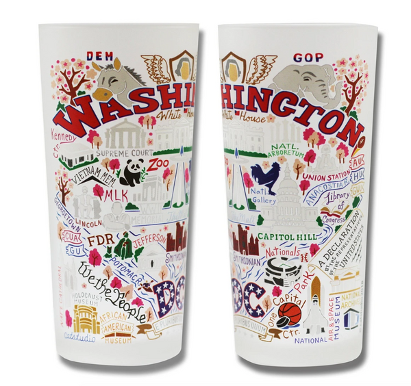 Washington DC Drinking Glass