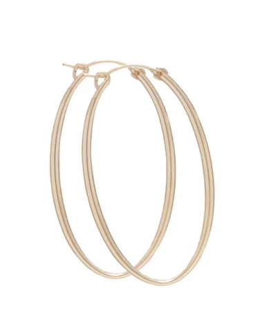 "enewton Oval Gold 2"" Hoop earring- Smooth"