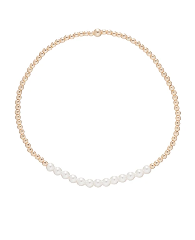 enewton Gold Bliss 2mm Bead Bracelet - Pearl