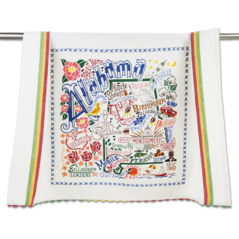 State Hand Embroidered Tea Towel (All 50 States Available)