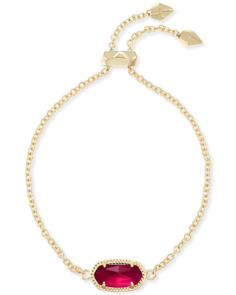 Elaina Gold Adjustable Chain Bracelet In Berry Illusion