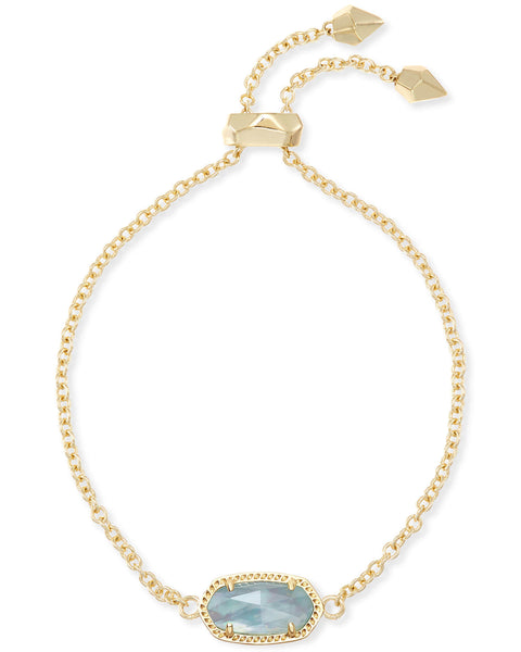 Elaina Adjustable Chain Bracelet In Light Blue Illusion