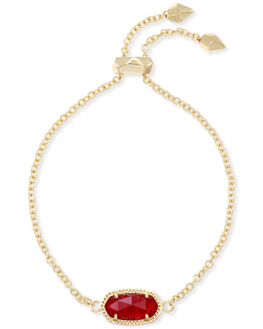 Elaina Adjustable Chain Bracelet In Ruby Red