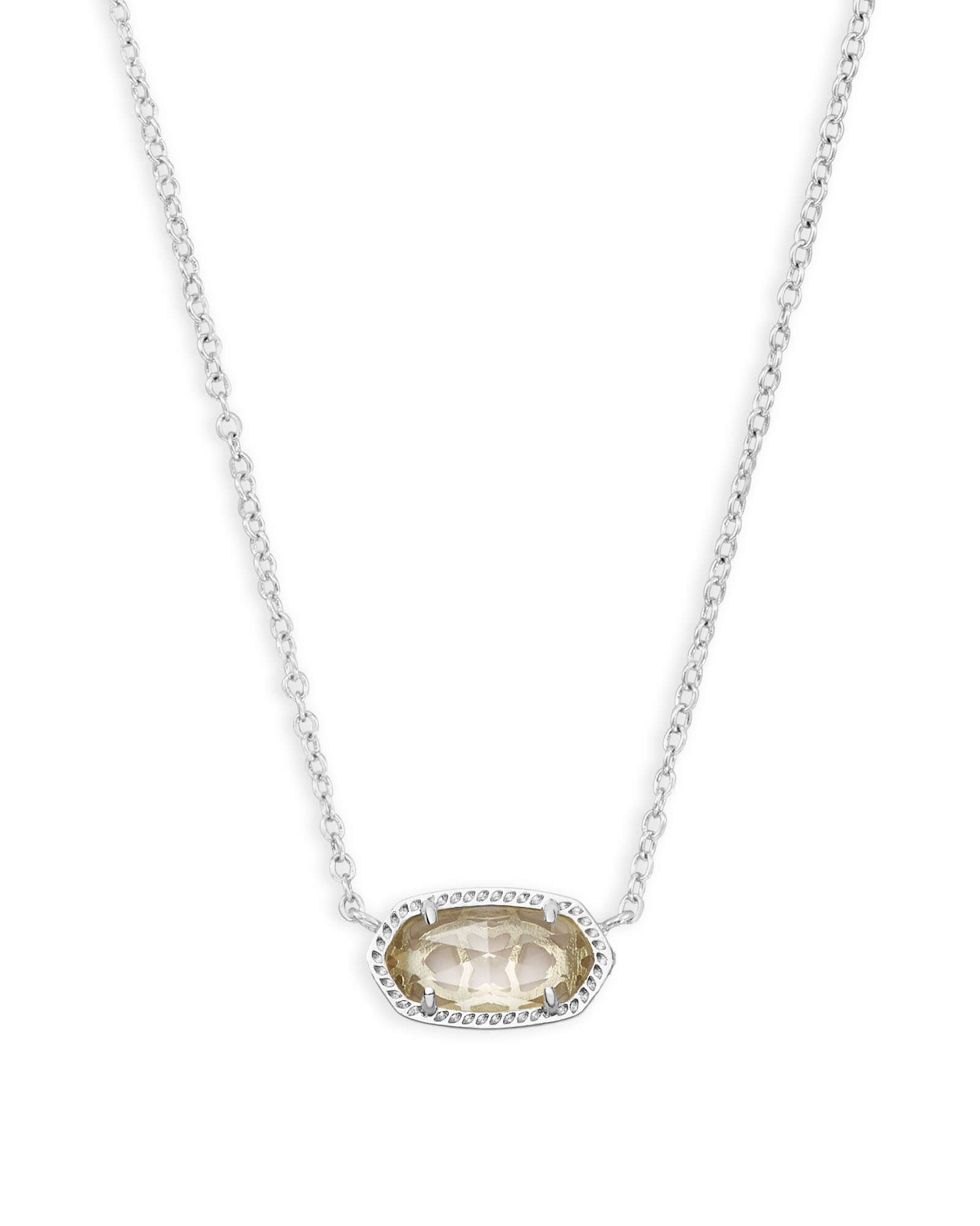 Elisa Silver Pendant Necklace In Crystal Clear