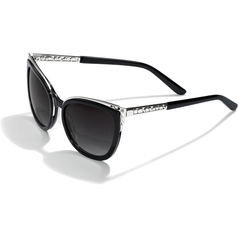 Contempo Ice Black Sunglasses