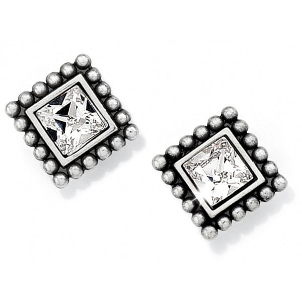 Sparkle Square Mini Post Earrings