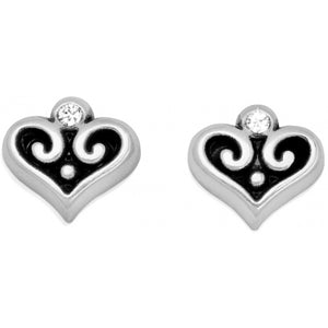 Alcazar Heart Mini Post Earrings