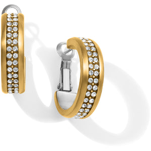 Meridian Two Tone Hoop Earrings