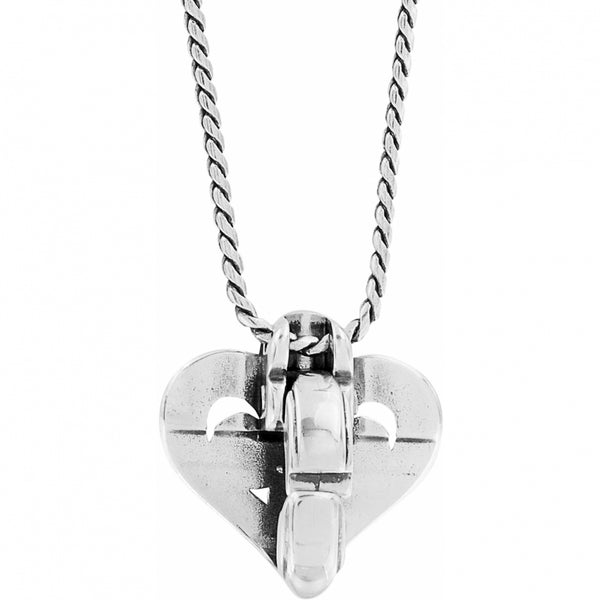 Alcazar Heart Badge Clip Necklace