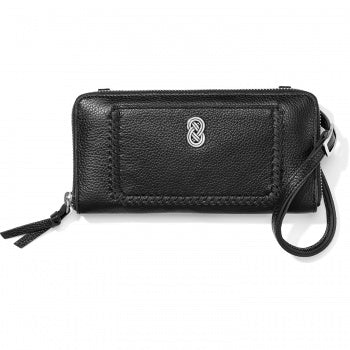 Intelok Large Zip Wallet Black