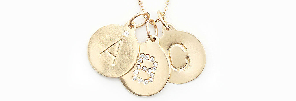 letter charms. Initial charm. monogram necklace. Initial pendant necklace. letter pendant. letter necklace. alphabet necklace. initial gold necklace. gold initial necklace. diamond initial necklace. helen ficalora alphabet charm. helen ficalora charms. helen ficalora gold charms. 14k gold name necklace. Initial necklace. personal necklaces. helen ficalora necklace. 14k gold necklace.