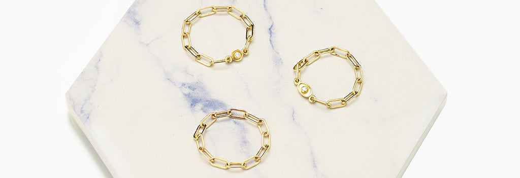 If you love chains, and you love rings, our very new chain rings are going to be your favorite. Explore our fine jewelry with our ring collection and find the pieces that speak to your soul.