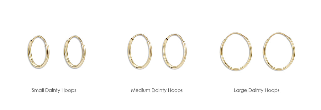 Helen's Small Dainty Hoop Earrings lovingly crafted in New York.  Made With Solid 14k Gold. Free Gift Wrapping And Gift Box. Free Express Shipping.