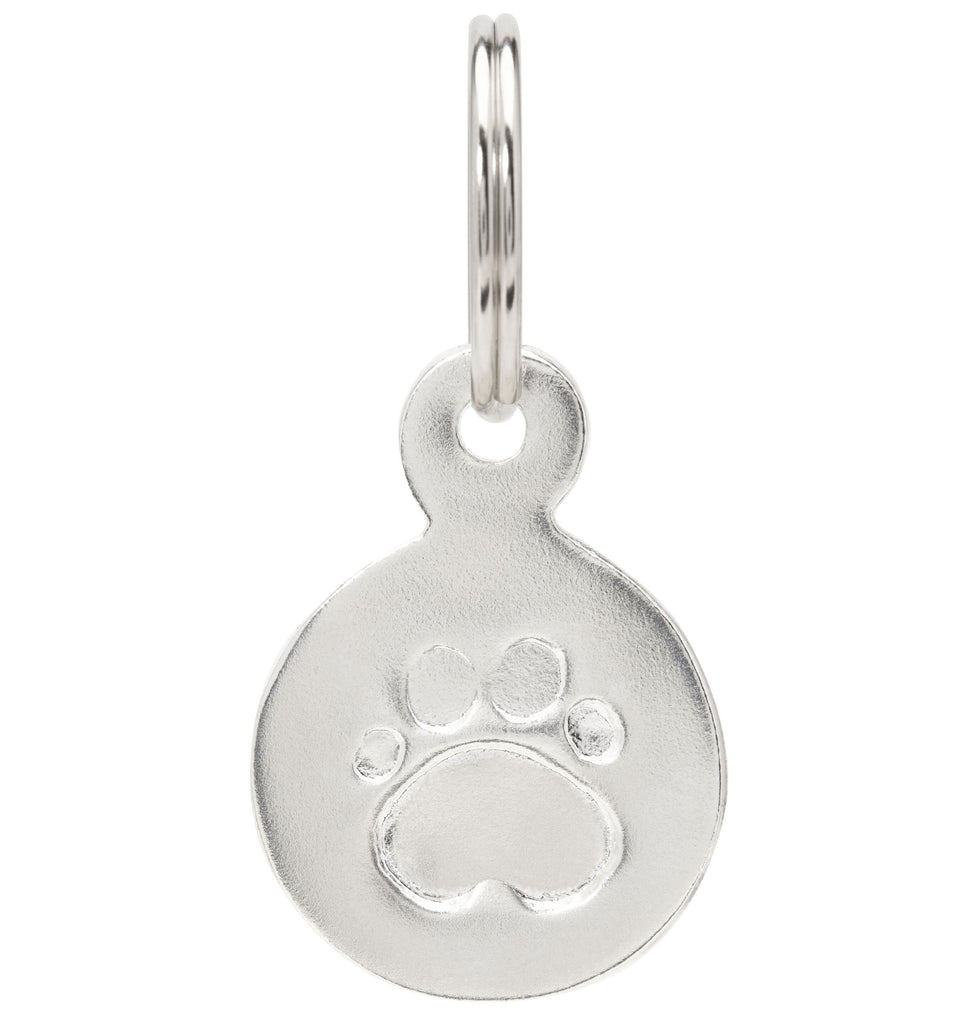 Large Paw Print Pet Tag Jewelry Helen Ficalora Sterling Silver