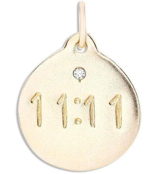 """11:11"" Disk Charm With Diamond Jewelry Helen Ficalora"
