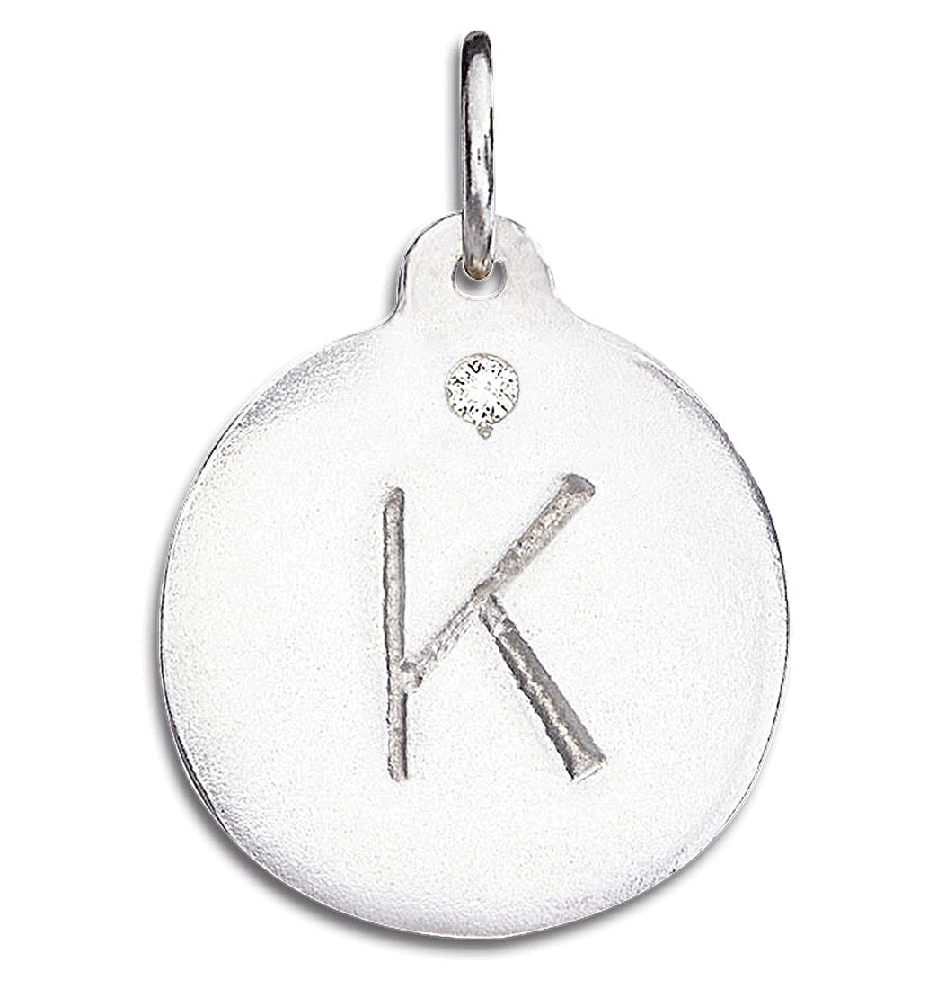 """K"" Alphabet Charm With Diamond"