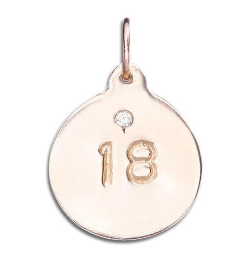 """18"" Disk Charm With Diamond Jewelry Helen Ficalora"