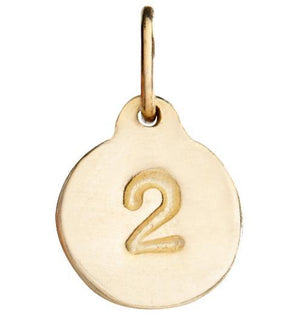 """2"" Number Charm Jewelry Helen Ficalora 14k Yellow Gold"
